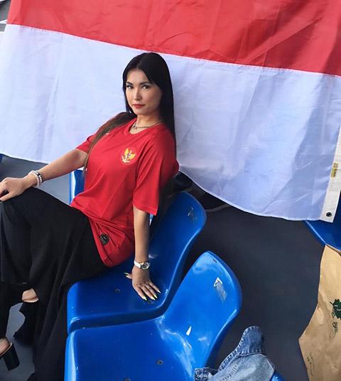 Ozawa xuất hiện cùng áo thi đấu của ĐT U22 Indonesia