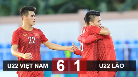U22 Việt Nam 6-1 U22 Lào: Thầy trò Park Hang Seo vững ngôi đầubảng B SEA Games 30