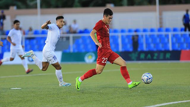 Tiến Linh lập hat-trick cho U22 Việt Nam. Ảnh: Đức Cường