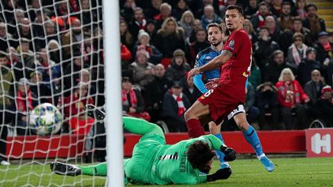 Liverpool lập kỷ lục tệ hại sau trận hòa Napoli