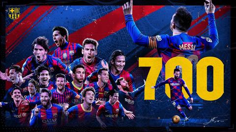 Messi cán cột mốc trận đấu thứ 700 cho Barca