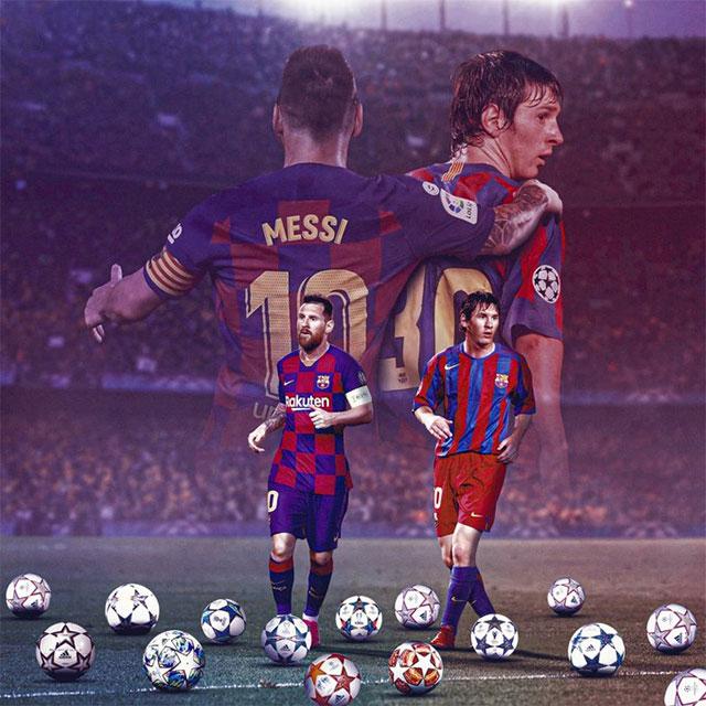 Messi đã đá 700 trận cho Barca