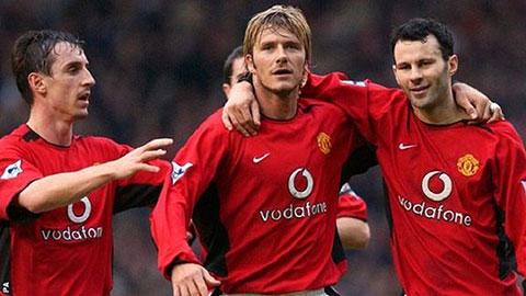 Gary Neville, David Beckham, Ryan Giggs, những người gắn với các chiến thắng đáng nhớ của M.U