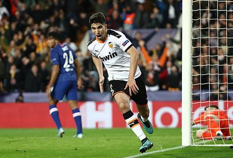 Soler mở tỷ số cho Valencia