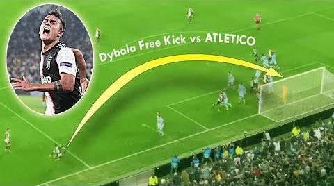 Pha sút phạt thành bàn khó tin của Dybala