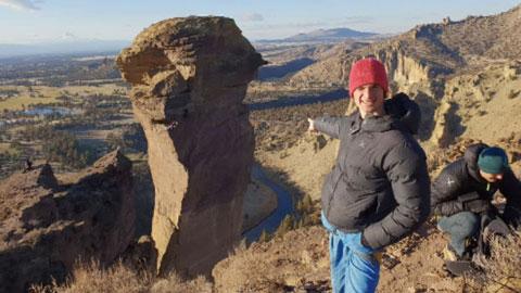 Ondra đã chinh phục được  vách đá Smith Rock