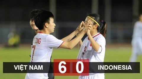 ĐT nữ Việt Nam 6-0 ĐT nữ Indonesia: Trút mưa bàn thắng, Việt Nam thẳng tiến vào bán kết