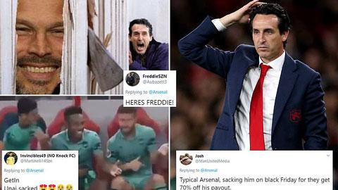 """Fan Arsenal """"quẩy"""" tưng bừng sau khi Emery bị sa thải"""