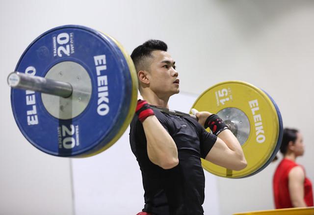 Gương mặt trẻ Lại Gia Thành, hy vọng vàng ở hạng cân 55kg môn cử tạ - Ảnh: Nhã Uyên