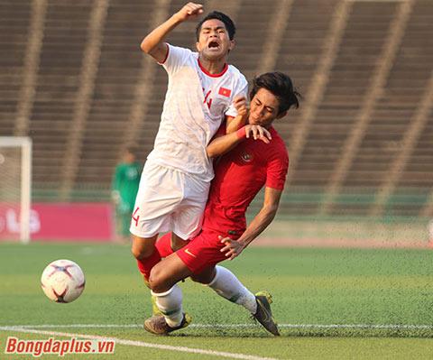 U22 Việt Nam thua một trận cay đắng trước U22 Indonesia tại Campuchia 9 tháng trước - Ảnh: Trí Công
