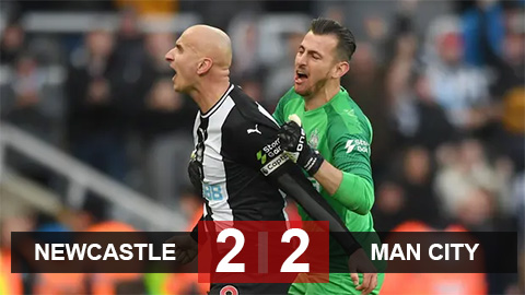Newcastle 2-2 Man City: Thảm họa cho The Citizens
