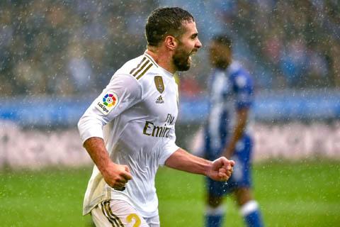Carvajal ghi bàn thắng quan trọng cho Real