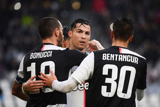 Bonaucci và Ronaldo đều đã ghi bàn ở trận này