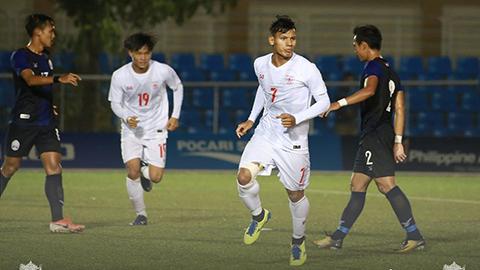 U22 Myanmar (áo trắng) đã giành vé vào bán kết