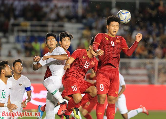 Tình huống ghi bàn gỡ hòa 1-1 vào lưới U22 Indonesia của Thành Chung rất giống tình huống mà U22 Việt Nam ghi bàn vào lưới U22 Brunei ở lượt đầu tiên