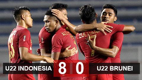 U22 Indonesia 8-0 U22 Brunei: U22 Indonesia đưa U22 Việt Nam vào thế sinh tử với người Thái