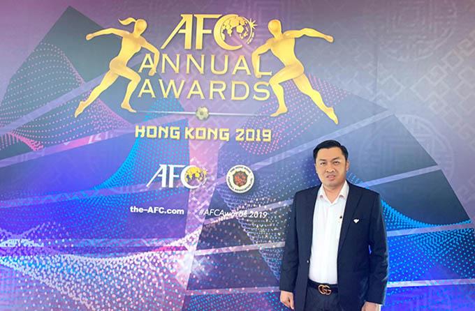 Ông Cao Văn Chóng - 1 trong 2 Phó chủ tịch VFF dự lễ trao giải