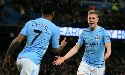 De Bruyne và Sterling sẽ là hạt nhân mang về chiến thắng cho Man City?