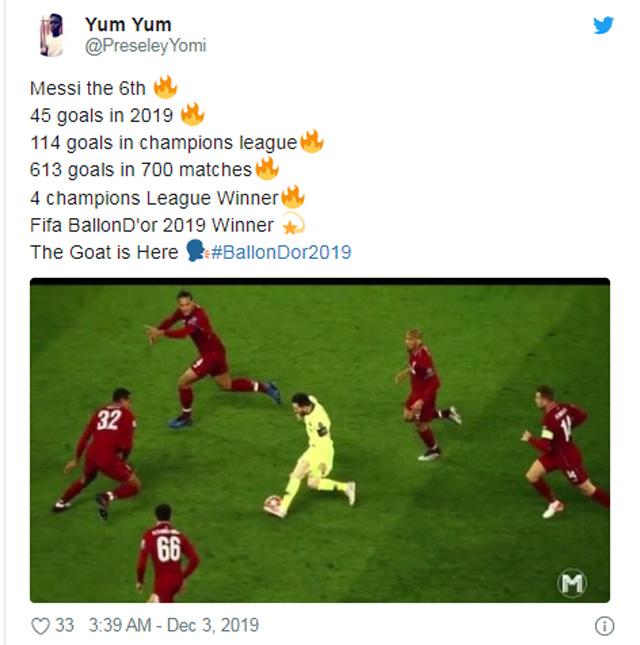 Cộng đồng mạng thán phục tài năng của Messi
