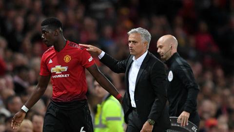 Pogba lỡ ngày đoàn tụ với Mourinho tại Old Trafford