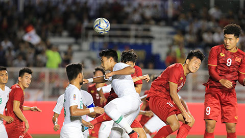 Trận U22 Việt Nam vs U22 Singapore không hoãn dù có mưa bão