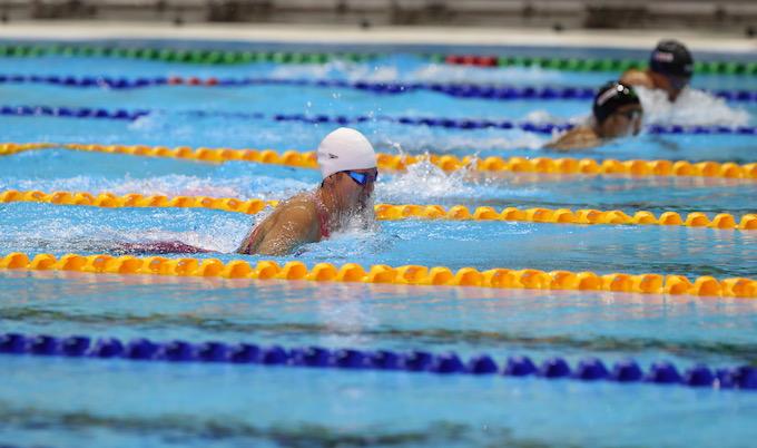 Ánh Viên thi đấu ở 200m hỗn hợp. Ảnh: Quang Liêm