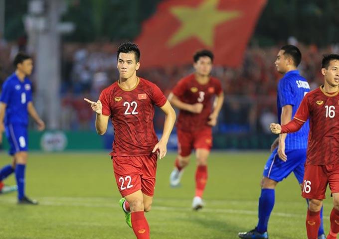 Phong độ tuyệt vời của Tiến Linh đã thành chỗ dựa cho U22 Việt Nam ở thời khắc khó khăn nhất. Ảnh: Đức Cường