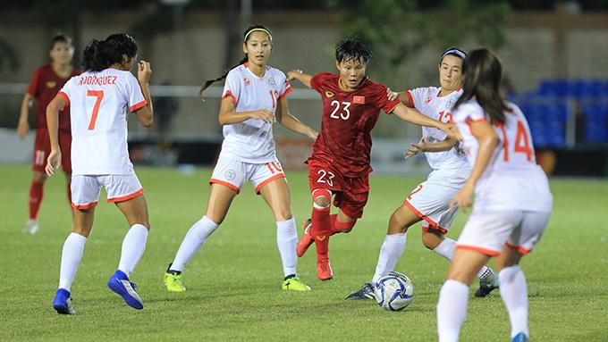 ĐT nữ Việt Nam đã giành quyền vào chung kết. Ảnh: Đức Cường