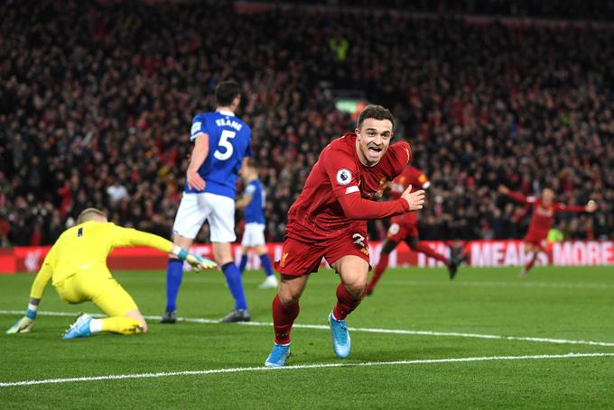 Shaqiri nổ súng cho Liverpool lần đầu tiên kể từ tháng 1