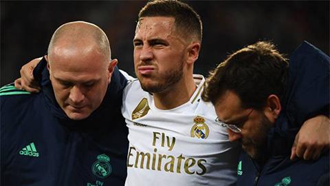Real xác nhận Hazard lỡ El Clasico vì vỡ mắt cá