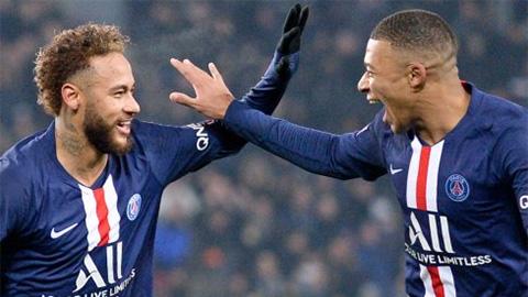 """Vòng 16 Ligue 1: """"Song sát"""" Neymar, Mbappe lên tiếng, PSG lại bỏ xa Marseille"""