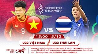 Xem trực tiếp U22 Việt Nam và U22 Thái Lan VTVcab