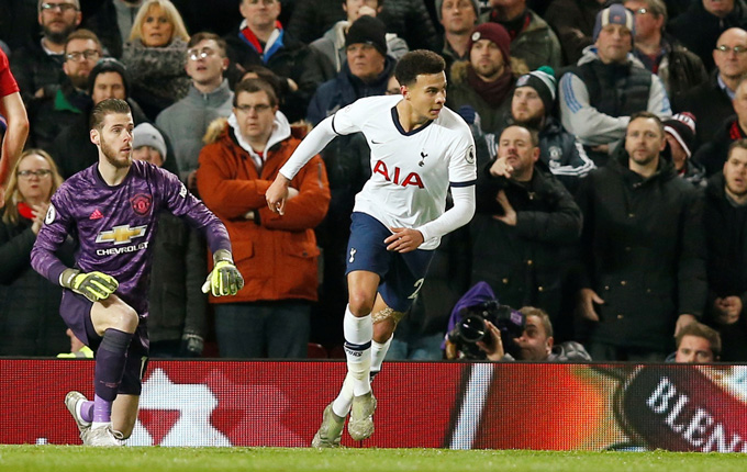 Alli là điểm sáng trong trận đấu của Tottenham