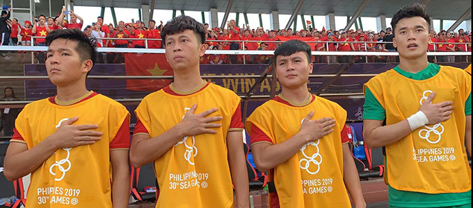 Quang Hải có thể kịp bình phục để trở lại chơi trận chung kết SEA Games 30 - Ảnh: Đức Cường