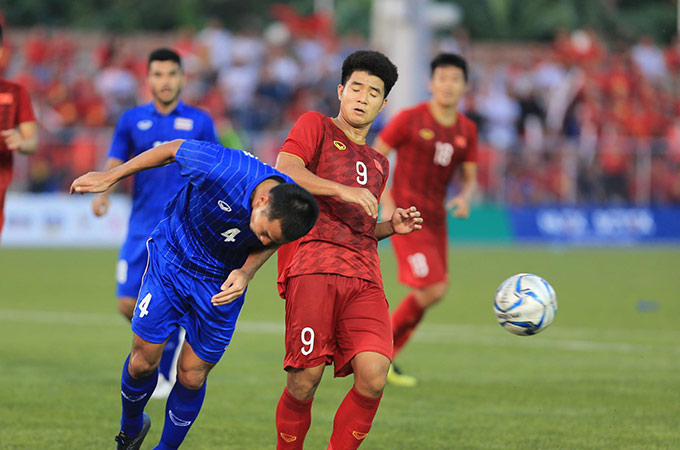 Thái Lan bị loại ở SEA Games 30 sau trận hoà 2-2 với Việt Nam - Ảnh: Đức Cường