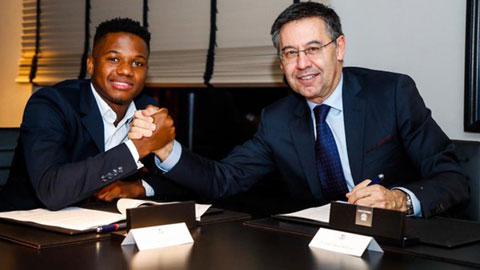 Barca gia hạn với Ansu Fati kèm mức phí giải phóng khổng lồ