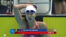 Kình ngư Ánh Viên tiếp tục giành HCV 200m tự do nữ(Sea games 30)