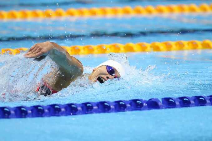 Ánh Viên tiếp tục là tâm điểm của môn bơi. Ảnh: Đức Cường
