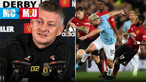 HLV Solskjaer tiết lộ thông tin lực lượng, đá đểu Man City trước derby Manchester