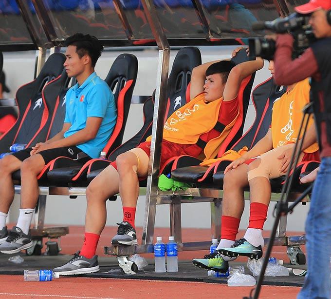 U22 Việt Nam mất Quang Hải ở phần còn lại SEA Games - Ảnh: Đức Cường