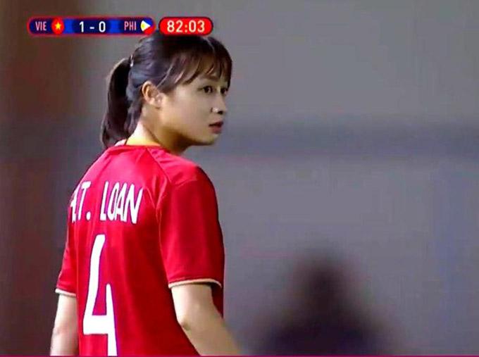 Một gương mặt khác cũng xôn xao cộng đồng mạng chính là Hoàng Thị Thảo, hậu vệ trái của ĐT nữ Việt Nam.