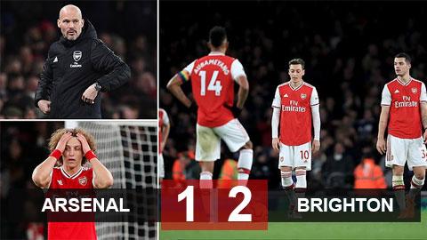 Arsenal 1-2 Brighton: Kế hoạch giải cứu thất bại