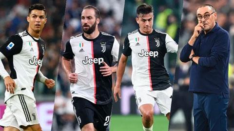 HLV Juve thừa nhận Ronaldo, Dybala và Higuain không thể đá cùng nhau