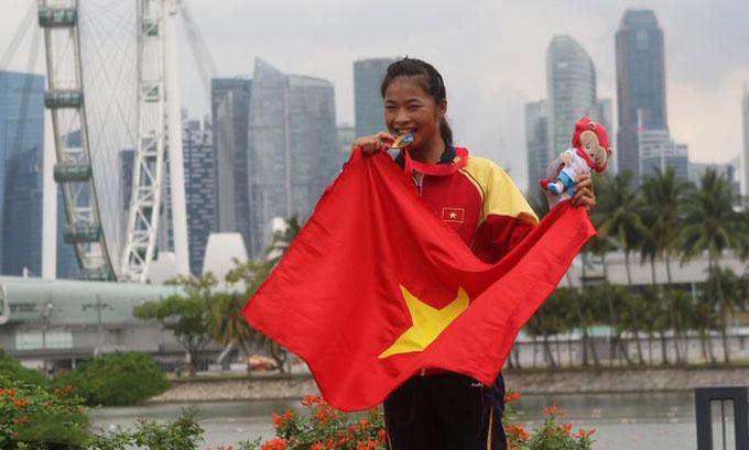 Trương Thị Phương từng giành HCV tại SEA Games 28
