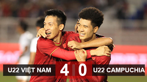 U22 Việt Nam 4-0 U22 Campuchia: Tái ngộ U22 Indonesia ở chung kết