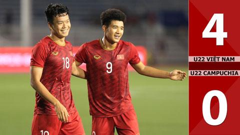 U22 Việt Nam 4-0 U22 Campuchia(Sea games 30)