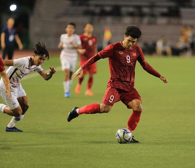 Đức Chinh lập hat-trick cho U22 Việt Nam. Ảnh: Đức Cường