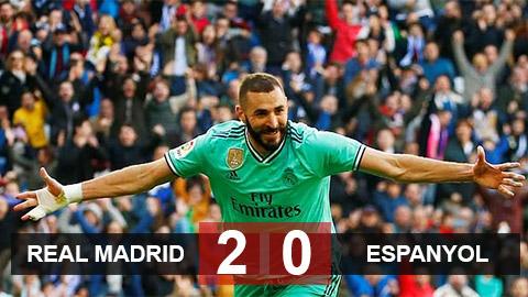 Real Madrid 2-0 Espanyol: Real chiếm ngôi đầu của Barca