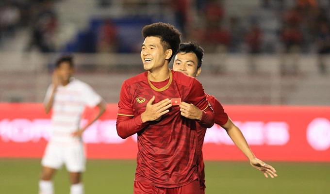 U22 Việt Nam giành vé vào chung kết SEA Games một cách đầy thuyết phục - Ảnh: Đức Cường