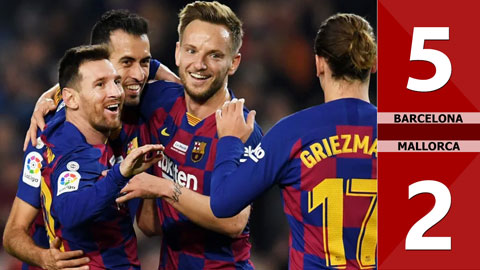 Barcelona 5-2 Mallorca(Vòng 14 La Liga 2019/20)